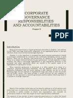 CORPORATE GOVERNANCE RESPONSIBILITIES