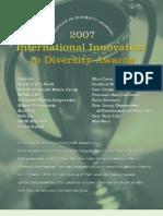 Diversity Journal | 2007 Innovations in Diversity Awards