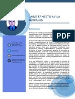 JAIME ERNESTO AVILA MORALES - CV