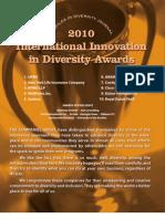 Diversity Journal   2010 Innovations in Diversity Awards