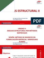 UNIDAD II _AE_II_2.2.ANALISIS MATRICIAL ESTRUCTURAS_RIGIDECES_ARMADURAS PLANAS