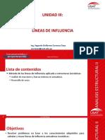 UNIDAD III_LINEAS DE INFLUENCIA_ARMADURAS ISOSTATICAS.pdf