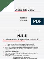 ANALYSES DE L'EAU fiches résumé Patrick.ppt