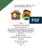 MARCO TEORICO plan de gestion integrada de los recursos hidricos