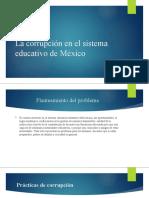La corrupción en el sistema educativo de México