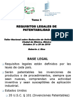 Tema 3- Requisitos Legales de Patentabilidad