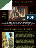 Estudo 01 - Mateus - O Evangelho do Reino 1