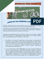 5  PERMISOS LABORALES PARA DOCENTES