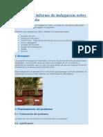 Ejemplo de informe de indagación sobre la lluvia ácida