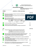 Mechatronics Design 1 Second Mid Term Exam 2010-2011