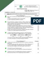 Mechatronics Design 2 Final Exam 2009-2010