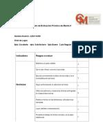 Pauta de Evaluación Práctica de Banda II-JUAN VARA