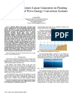 On the Use of Rotary-Linear Generators in Floating Hybrid Wind and Wave Energy Conversion Systems