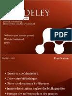 Mendeley Teaching Presentation French 2011