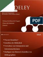 Mendeley Teaching Presentation German 2011