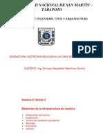 2. SEMANA 2; ELEMENTOS DE INFRAESTRUCTURA VIAL - SESIÓN - 3