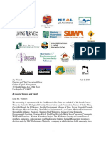 Letter to Oaktree Capital from Conservation Groups and the Ute Mountain Ute Tribe