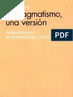 El pragmatismo- una versión- antiautoritarismo en epistemología y ética Escrito por Richard Rorty