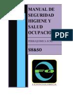 MANUAL DE SEGURIDAD HIGIENE Y SALUD OCUPACIONAL