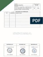 PE-088- Lineamientos de SSOMA durante el periodo de aislamiento social obligatorio - terceros