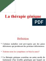 Therapie génique