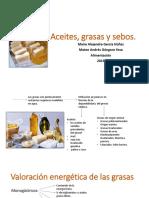 Aceites, grasas y  sebos. MAIRA Y MATEO