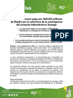 Boletin Informativo PHI Pago Mapfre USD 100 Millones