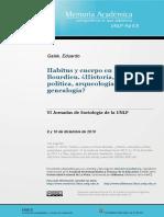 Habitus y cuerpo en Pierre Bourdieu
