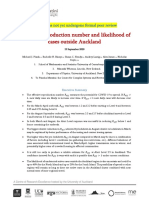 Government Modelling Paper on the Auckland Cluster