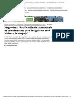 """Sergio Grez_ """"Pacificación de la Araucanía es un eufemismo para designar un acto violento de despojo"""" _ El Desconcierto"""