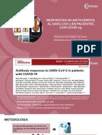 Revisión de artículo- Respuestas de anticuerpos al SARS-COV-2 en pacientes con Covid-19.