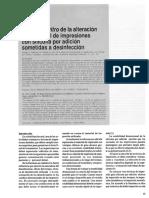 Estudio in vitro de la alteración dimensional de impresiones con silicona por adición sometidas a desinfección