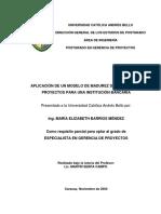 Aplicacion de un Modelo de Madurez de Gerencia de Proyectos para una Institucion Bancaria_UCAB_2004