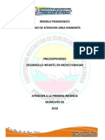 MODELO PEDAGOGICO 2018  LINEA DIAMANTE