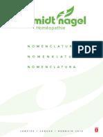 nomenclature homeopatica