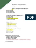CUESTONARIO DE LEGILACION LABORAL