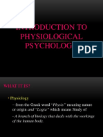 LESSON-1 INTRODUCTION TO PHYSIOLOGICAL PSYCHOLOGY
