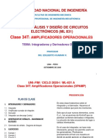 UNI_FIM_2020-1 (ML-831)_Clase 34 (Op Amp - Integrador y Derivador)