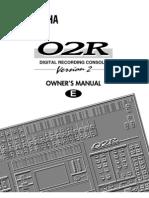 Yamaha 02Rv2E Manual