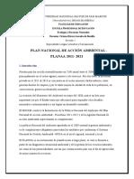 PLAN NACIONAL AMBIENTAL 2021 - AGUIRRE, VILLANUEVA, CASTILLO, PORTILLO