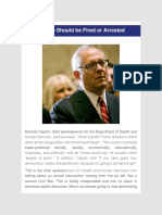 Dr. Juan Andrade, Jr. - Caputo Should Be Fired or Arrested