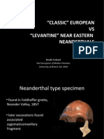 Classical vs Levantine Neanderthals SLIDES