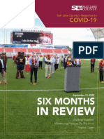 Salt Lake County COVID-19 Six Months in Review