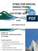 Chapter 11 _ home agency, branch and agency accounting