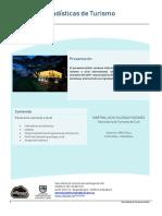 Boletín de estadísticas de turismo semestre I-2019