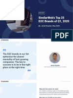 SimilarWeb Top 25 Growing D2C Brands Full List May 12