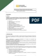 TDR para evaluación final