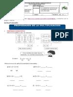 Guia 4 MATEMATICAS  Propiedades de la multiplicación (1)