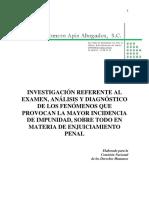 ANÁLISIS Y DIAGNÓSTICO DE LOS FENÓMENOS QUE PROVOCAN LA MAYOR INCIDENCIA DE IMPUNIDAD, SOBRE TODO EN MATERIA DE ENJUICIAMIENTO PENAL.pdf