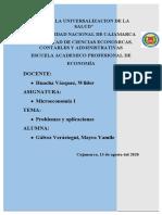 PROBLEMAS Y APLICACIONES DE OFERTA Y DEMANDA